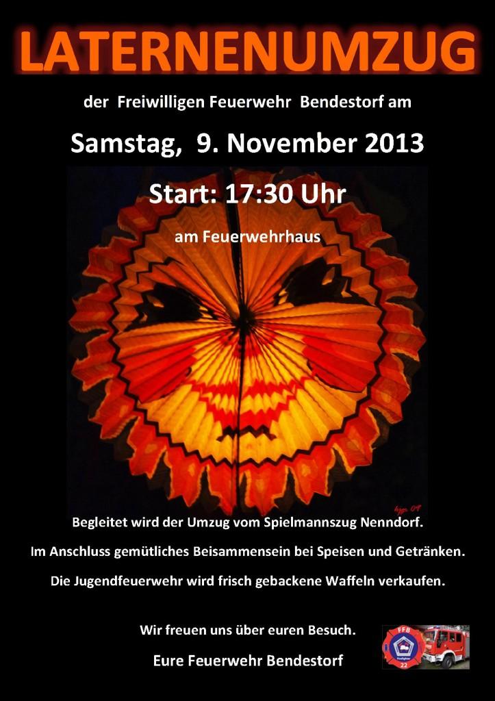 Plakat FF Laternenumzug 2013