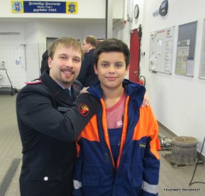 Jugendwart Kay Mertens und Emilio Saransig